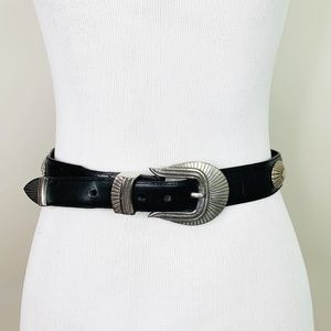 VINTAGE LL Bean Leather Belt 28 Western Boho S